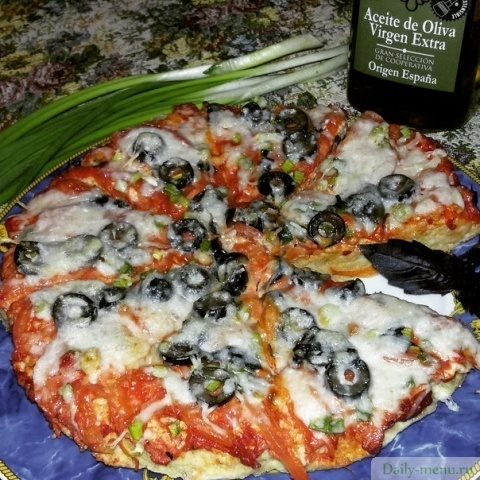 рецепт диетической пиццы с ккал