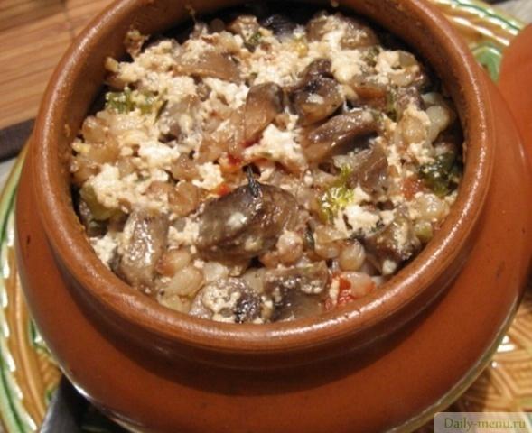 рецепт гречневая каша с грибами и луком