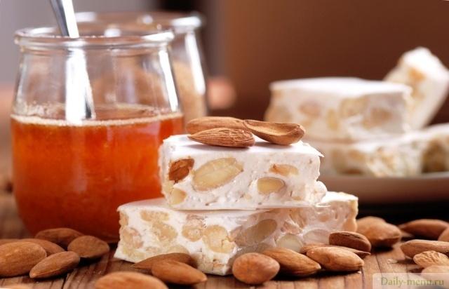 калорийность нуги с орехами