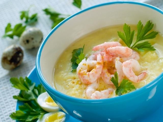 суп с креветками в рецепты с фото