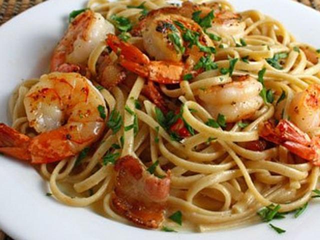 паста с морепродуктами рецепт без сливок
