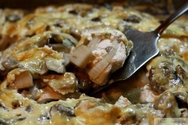 куриная грудка с грибами в духовке рецепты с фото