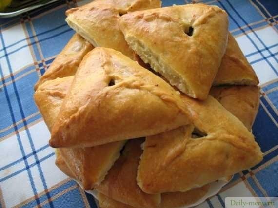пирожки с картошкой и мясом курицы
