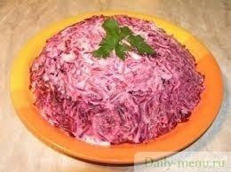 Салат из свеклы со сметаной фото