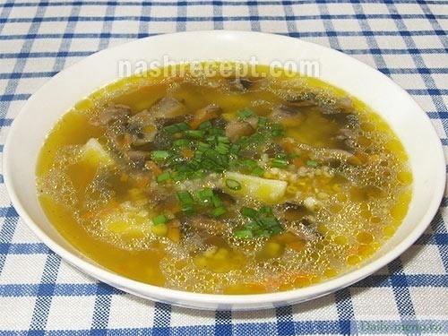 суп с крупой рецепт