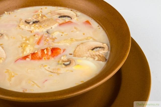 Суп из курицы с шампиньонами и плавленным сыром рецепт с пошагово в