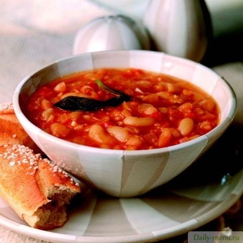 суп из фасоли с калорийностью рецепт