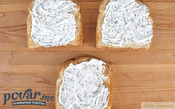 рецепты бутербродов с творожным сыром
