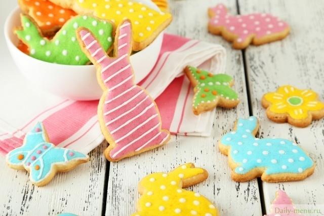 Пасхальное печенье с глазурью рецепт с фото