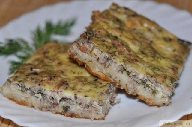 Рецепт пирог с консервированной рыбой