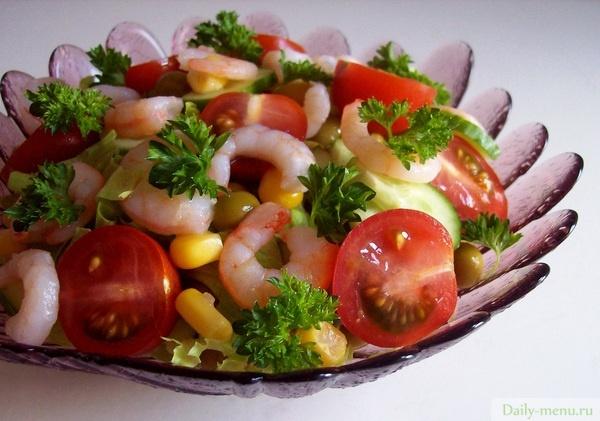 Салаты с креветками на праздничный стол рецепты 10
