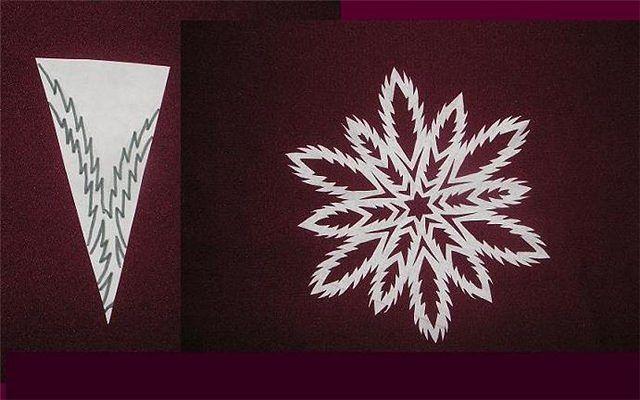 Снежинка к новому году своими руками поэтапно